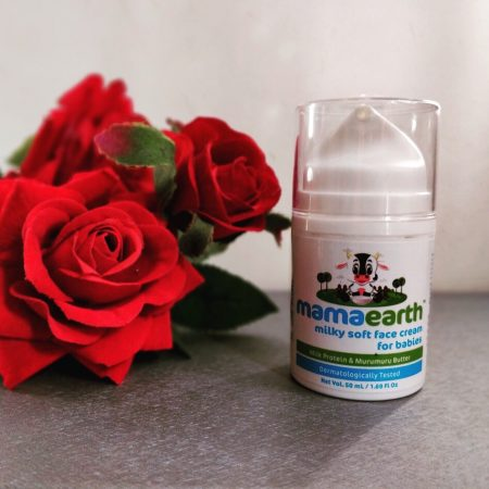 Protect your babies skin with Mamaearth Milky soft face cream